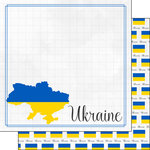 Scrapbook Customs - Adventures Around the World Collection - 12 x 12 Double Sided Paper - Adventure Border - Ukraine