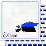 Scrapbook Customs - Adventures Around the World Collection - 12 x 12 Double Sided Paper - Adventure Border - Estonia