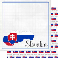 Scrapbook Customs - Adventures Around the World Collection - 12 x 12 Double Sided Paper - Adventure Border - Slovakia