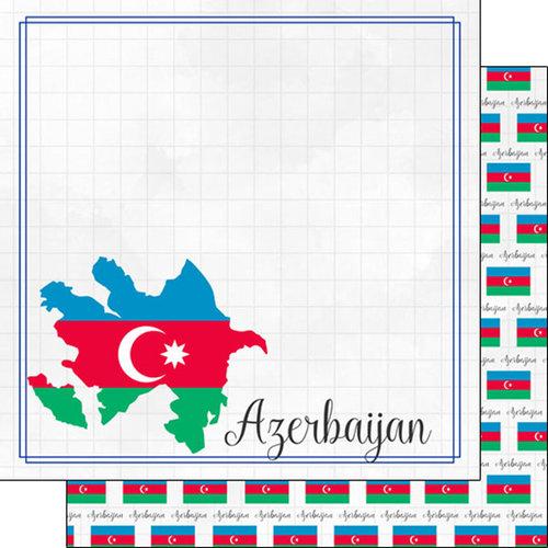 Scrapbook Customs - Adventures Around the World Collection - 12 x 12 Double Sided Paper - Adventure Border - Azerbaijan