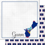 Scrapbook Customs - Adventures Around the World Collection - 12 x 12 Double Sided Paper - Adventure Border - Guam