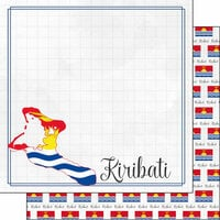 Scrapbook Customs - Adventures Around the World Collection - 12 x 12 Double Sided Paper - Adventure Border - Kiribati