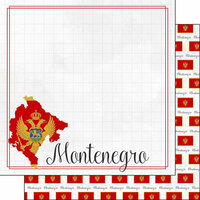 Scrapbook Customs - Adventures Around the World Collection - 12 x 12 Double Sided Paper - Adventure Border - Montenegro