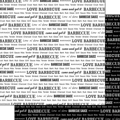 Scrapbook Customs - Sports Pride Collection - 12 x 12 Double Sided Paper - Barbeque 2