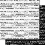 Scrapbook Customs - Sports Pride Collection - 12 x 12 Double Sided Paper - Baseball 2