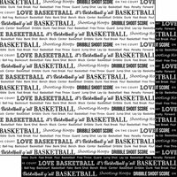 Scrapbook Customs - Sports Pride Collection - 12 x 12 Double Sided Paper - Basketball 2