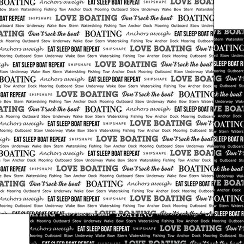 Scrapbook Customs - Sports Pride Collection - 12 x 12 Double Sided Paper - Boating 2