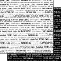 Scrapbook Customs - Sports Pride Collection - 12 x 12 Double Sided Paper - Bowling 2