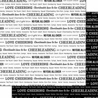 Scrapbook Customs - Sports Pride Collection - 12 x 12 Double Sided Paper - Cheerleading 2