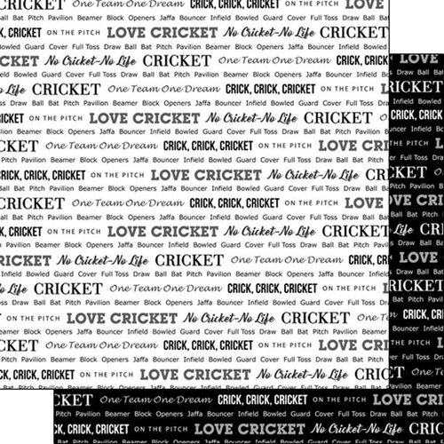 Scrapbook Customs - Sports Pride Collection - 12 x 12 Double Sided Paper - Cricket 2