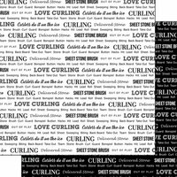 Scrapbook Customs - Sports Pride Collection - 12 x 12 Double Sided Paper - Curling 2