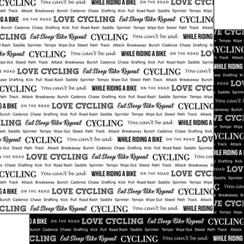 Scrapbook Customs - Sports Pride Collection - 12 x 12 Double Sided Paper - Cycling 2