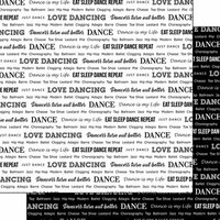 Scrapbook Customs - Sports Pride Collection - 12 x 12 Double Sided Paper - Dance 2