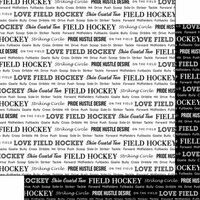 Scrapbook Customs - Sports Pride Collection - 12 x 12 Double Sided Paper - Field Hockey 2