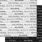 Scrapbook Customs - Sports Pride Collection - 12 x 12 Double Sided Paper - Football 2