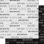 Scrapbook Customs - Sports Pride Collection - 12 x 12 Double Sided Paper - Golf 2
