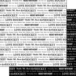 Scrapbook Customs - Sports Pride Collection - 12 x 12 Double Sided Paper - Hockey 2