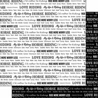 Scrapbook Customs - Sports Pride Collection - 12 x 12 Double Sided Paper - Horse Riding 2