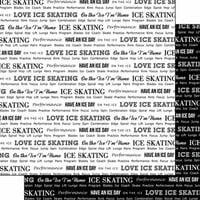 Scrapbook Customs - Sports Pride Collection - 12 x 12 Double Sided Paper - Ice Skating 2