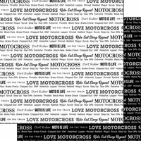 Scrapbook Customs - Sports Pride Collection - 12 x 12 Double Sided Paper - Motocross 2