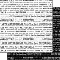 Scrapbook Customs - Sports Pride Collection - 12 x 12 Double Sided Paper - Motorcycle 2