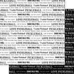 Scrapbook Customs - Sports Pride Collection - 12 x 12 Double Sided Paper - Pickleball 2