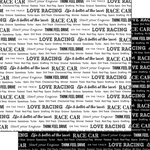 Scrapbook Customs - Sports Pride Collection - 12 x 12 Double Sided Paper - Race Car 2