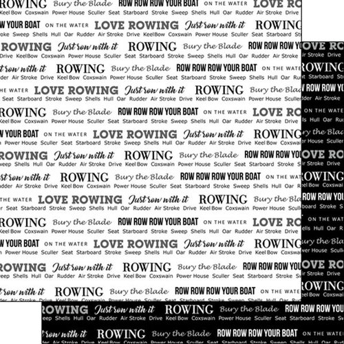 Scrapbook Customs - Sports Pride Collection - 12 x 12 Double Sided Paper - Rowing 2