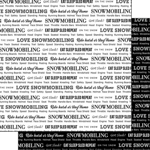 Scrapbook Customs - Sports Pride Collection - 12 x 12 Double Sided Paper - Snowmobiling 2