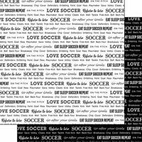 Scrapbook Customs - Sports Pride Collection - 12 x 12 Double Sided Paper - Soccer 2