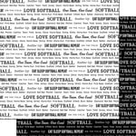 Scrapbook Customs - Sports Pride Collection - 12 x 12 Double Sided Paper - Softball 2