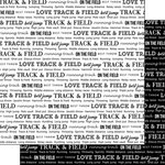 Scrapbook Customs - Sports Pride Collection - 12 x 12 Double Sided Paper - Track and Field 2