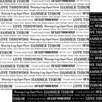 Scrapbook Customs - Sports Pride Collection - 12 x 12 Double Sided Paper - Track Hammer Throw 2