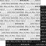 Scrapbook Customs - Sports Pride Collection - 12 x 12 Double Sided Paper - Track Pole Vault 2
