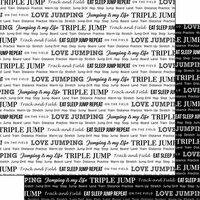 Scrapbook Customs - Sports Pride Collection - 12 x 12 Double Sided Paper - Track Triple Jump 2