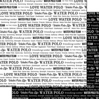 Scrapbook Customs - Sports Pride Collection - 12 x 12 Double Sided Paper - Water Polo 2