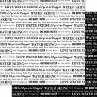 Scrapbook Customs - Sports Pride Collection - 12 x 12 Double Sided Paper - Water Skiing 2