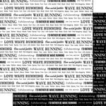 Scrapbook Customs - Sports Pride Collection - 12 x 12 Double Sided Paper - Wave Running 2