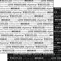 Scrapbook Customs - Sports Pride Collection - 12 x 12 Double Sided Paper - Wrestling 2