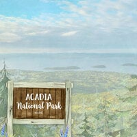 Scrapbook Customs - United States National Parks Collection - 12 x 12 Double Sided Paper - Watercolor - Acadia