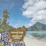 Scrapbook Customs - United States National Parks Collection - 12 x 12 Double Sided Paper - Watercolor - American Samoa