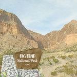 Scrapbook Customs - United States National Parks Collection - 12 x 12 Double Sided Paper - Watercolor - Big Bend