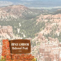 Scrapbook Customs - United States National Parks Collection - 12 x 12 Double Sided Paper - Watercolor - Bryce Canyon