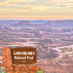 Scrapbook Customs - United States National Parks Collection - 12 x 12 Double Sided Paper - Watercolor - Canyonlands