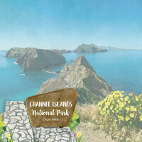 Scrapbook Customs - United States National Parks Collection - 12 x 12 Double Sided Paper - Watercolor - Channel Islands