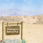 Scrapbook Customs - United States National Parks Collection - 12 x 12 Double Sided Paper - Watercolor - Death Valley