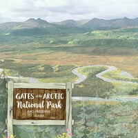 Scrapbook Customs - United States National Parks Collection - 12 x 12 Double Sided Paper - Watercolor - Gates of the Arctic
