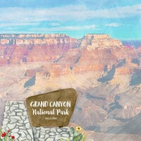 Scrapbook Customs - United States National Parks Collection - 12 x 12 Double Sided Paper - Watercolor - Grand Canyon