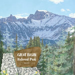 Scrapbook Customs - United States National Parks Collection - 12 x 12 Double Sided Paper - Watercolor - Great Basin