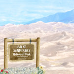 Scrapbook Customs - United States National Parks Collection - 12 x 12 Double Sided Paper - Watercolor - Great Sand Dunes